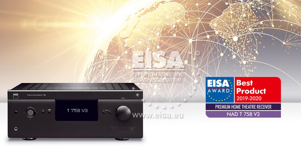 NAD T 758 V3 RECEIVER PREMIUM PARA CINEMA EM CASA EISA 2019-2020